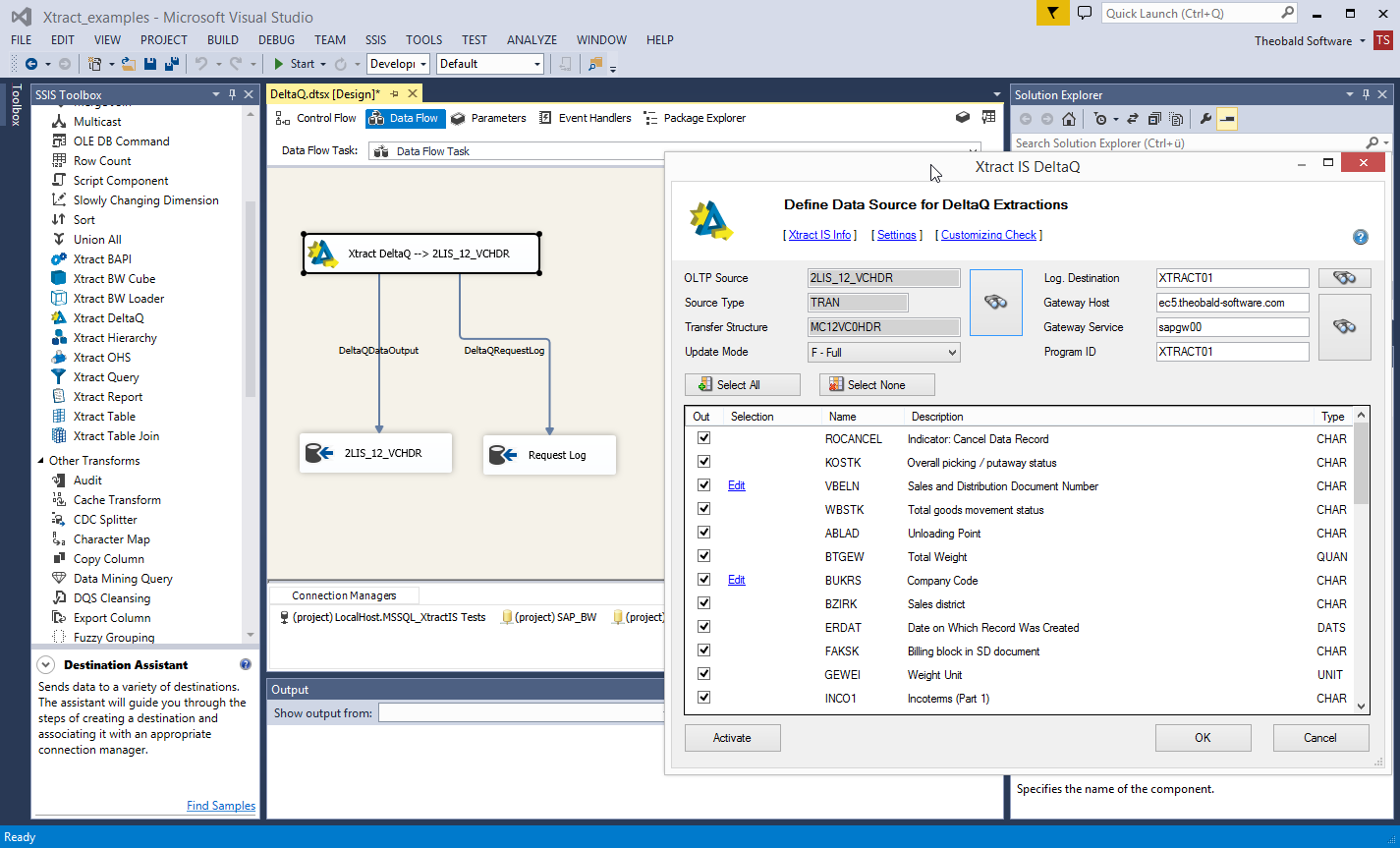 Xtract IS: Integration between SAP and SQL Server Integration Serives